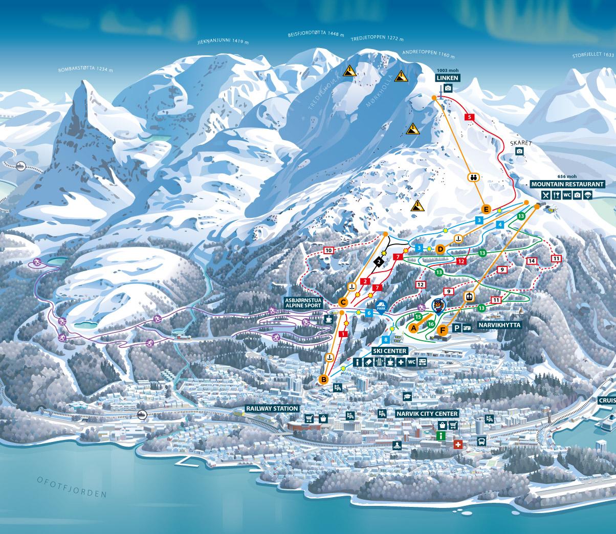 Narvik slope map